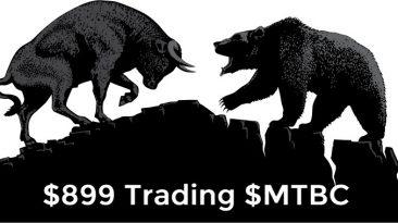 $899 Today Trading $MTBC
